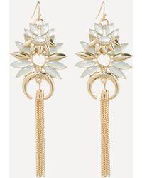 Bebe - Starburst Tassel Earrings - Lyst