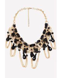 Bebe - Ribbon & Tassel Necklace - Lyst