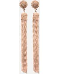 Bebe - Gold Tassel Earrings - Lyst