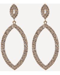 Bebe - Crystal Marquise Earrings - Lyst