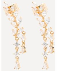 Bebe - Crystal Drop Ear Crawlers - Lyst