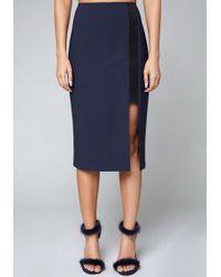 Bebe - Cutout Slit Skirt - Lyst
