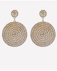 Bebe - Crystal Drop Disc Earrings - Lyst