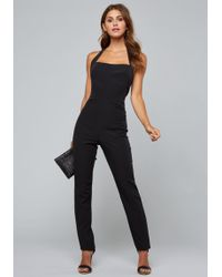 Bebe - Open Back Skinny Jumpsuit - Lyst
