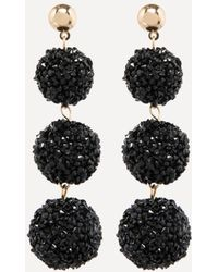 Bebe - Druzy Ball Linear Earrings - Lyst
