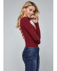 Bebe - Taria Lace Up Bodysuit - Lyst