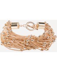 Bebe - Chain & Bead Bracelet - Lyst