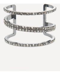 Bebe - Dark Silver Triple Bar Cuff - Lyst