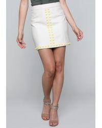 Bebe - Studded Miniskirt - Lyst