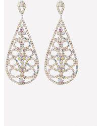 Bebe - Crystal Teardrop Earrings - Lyst