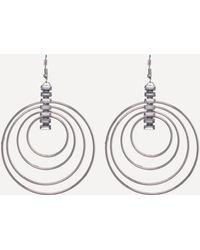 Bebe - Silver Multi-hoop Earrings - Lyst