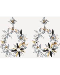 Bebe - Floral Hoop Earrings - Lyst