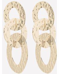 Bebe - Triple Ring Earrings - Lyst