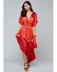 Bebe - Kimono Sleeve Hi-lo Dress - Lyst