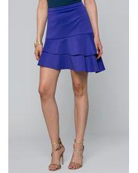 Bebe - Asymmetric Tiered Skirt - Lyst