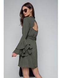 Bebe - Natalie Long Sleeve Dress - Lyst