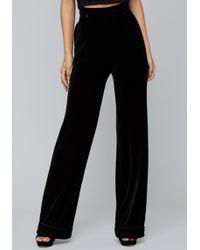 Bebe - Velvet High Waist Trousers - Lyst