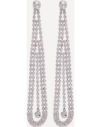 Bebe - Crystal Linear Earrings - Lyst