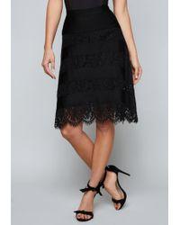 Bebe - Dallas Stripe & Lace Skirt - Lyst