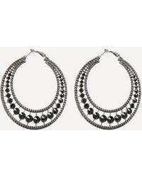 Bebe - Glam Textured Hoop Earrings - Lyst