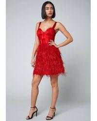 Bebe - Swan Dress - Lyst