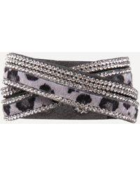 Bebe - Faux Leopard Wrap Bracelet - Lyst