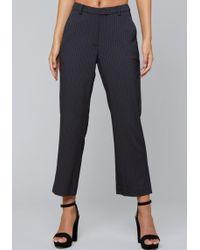 Bebe - Pinstripe Flare Crop Pants - Lyst