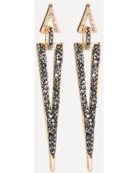 Bebe - Crystal Triangle Earrings - Lyst