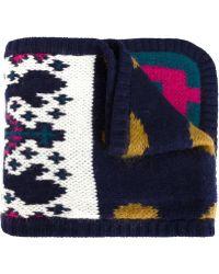 Tak.ori - Intarsia Knit Scarf - Lyst