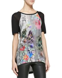 Nanette Lepore Quickwit Printed Combo Tee - Lyst