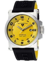 Swiss Legend - Mens Sportiva Yellow Dial Wblack Accent Blackyellow Silicone Sl07 Watch - Lyst