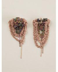 Arielle De Pinto - Cascading Bundle Chain Earrings - Lyst