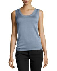 Carolina Herrera Silk-blend Knit Tank Top - Lyst