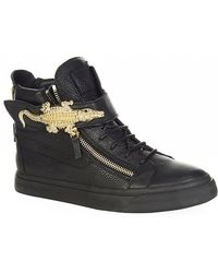 Giuseppe Zanotti Croc Rock High Top Sneaker - Lyst
