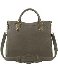 Balenciaga Metallic Edge Classic Velo Bag Olive - Lyst