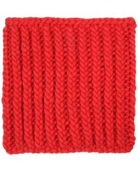 Wool And The Gang - Nellson Red Knitted Snood - Lyst