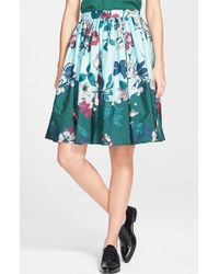 Moncler Garden Print A-Line Skirt - Lyst