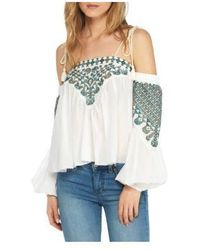 611e2d9c59102 Lyst - Free People Vacay Vibin Strappy Off-shoulder Top in White