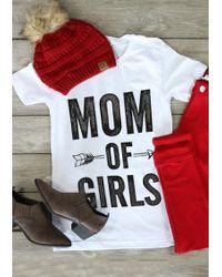 c11778b20 Belle Lily | Mom Of Girls Arrow Short Sleeve T-shirt | Lyst
