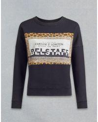 Belstaff - Alness Leopard Graphic Sweatshirt - Lyst