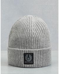 Belstaff - Seabrook Knitted Hat - Lyst 4ce8d493940