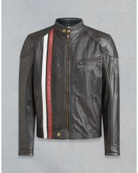 479961090a Belstaff Kavanagh Motorcycle Jacket in Gray for Men - Lyst