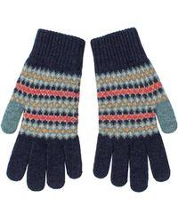 Ben Sherman - Fairisle Knitted Gloves - Lyst