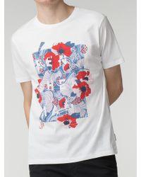 Ben Sherman - Floral Panel T-shirt - Lyst