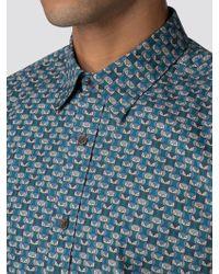 Ben Sherman - Long Sleeve Geo Owl Shirt - Lyst
