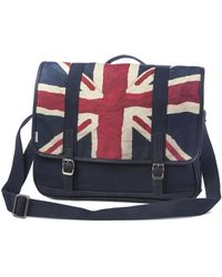 Ben Sherman | Union Jack Canvas Messenger Bag | Lyst