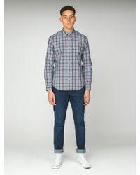 Ben Sherman - Slub Stripe Check Shirt - Lyst
