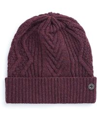 Ben Sherman - Cable Knit Beanie - Lyst