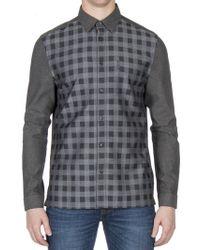 Ben Sherman - Long Sleeve Check Front Dobby Shirt - Lyst