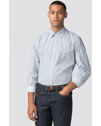 Ben Sherman - Off-white Long Sleeve Retro Geo Shirt - Lyst